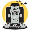 Funny Frankenstein Monster Halloween Graphic clipart