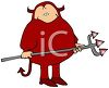 Cartoon of a Funny Fat Man Wearing a Devil Costume clipart