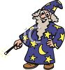Man Wearing a Wizard Halloween Costume clipart