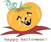 Cute Happy Halloween Pumpkin clipart