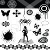 Digital Collage of Halloween or Spooky Design Elements clipart