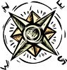 Compass Rose Boating Navigation Equipment clipart