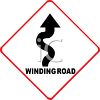 Winding Road Traffic Sign clipart