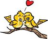 Two love birds clipart