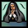 Catholic Nun Praying clipart