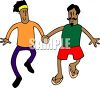 A gay couple holding hands clipart