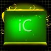 Sparkly Green Blank Sign Background clipart