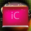 Pink Screen with Sparkles  clipart