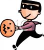 Boy Wearing a Mask Disguise for Halloween clipart