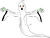Spooky, scary ghost or spirit Halloween costume clipart