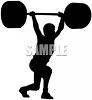 Weightlifter lifting weights over his head picture clipart