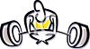 Person struggling to lift weights clipart