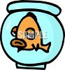 A bored fish with pouty lips clipart