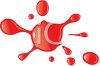 Splatter of Red Paint with Drops clipart