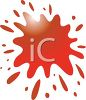Splash of Red Paint or Blood clipart