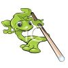 Cartoon Gecko Lizard Playing Pool clipart