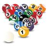 Racked Billiard Balls clipart