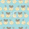 Background Design of Baby Faces Boys and Girls clipart
