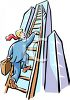 Businessman Climbing The Ladder of Success clipart
