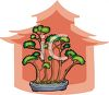 Bonsai Trees in a Dish clipart