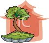Bonsai Tree with Berries clipart
