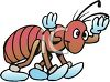 Cute Cartoon Ant  clipart
