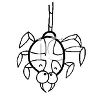 Spider Hanging From Its Spiderweb Coloring Page clipart