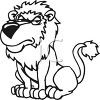 Angry Lion with Attitude clipart