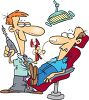 Phobias-Man in a Dentist Chair clipart