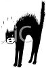 Scared, Hissing Black Cat clipart