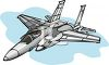 Military Aircraft with Weapons clipart