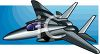 Shiny Fighter Jet clipart