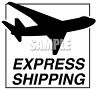 Express Shipping Label with an Airplane Silhouette clipart