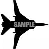 Silhouette of a Military Style Jet clipart