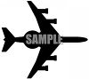 Fighter Plane with Guns Silhouette clipart