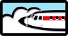 Nose of a Commercial Plane Icon clipart