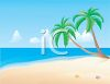 Ocean View from a Tropical Beach clipart