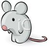 Cute cartoon mouse clipart