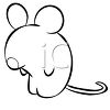 Cartoon mouse coloring page clipart