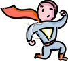 Kid Wearing a Super Hero Costume for Halloween clipart