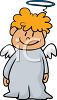 Cute Little Angel with a Halo clipart
