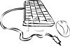 Computer Keyboard and Mouse clipart