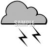 Lightening Thunderstorm Weather Symbol clipart