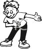 Young Man Taking a Bow clipart