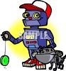 Robot Boy and His Robot Dog clipart