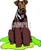 Airedale Breed Dog clipart