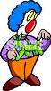 Cartoon of a Clown Making a Balloon Dog clipart