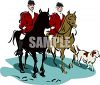 Men Going on a Fox Hunt clipart