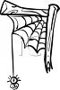 Funny Spider Dropping Down From His Web clipart