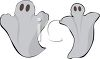 Fat and Skinny Halloween Ghost clipart